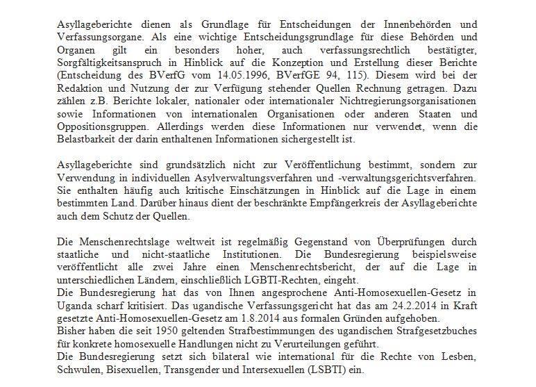 Stellungnahme des Auswärtigen Amts zur Kritik an den Asyllageberichten. (Foto: Auswärtiges Amt)