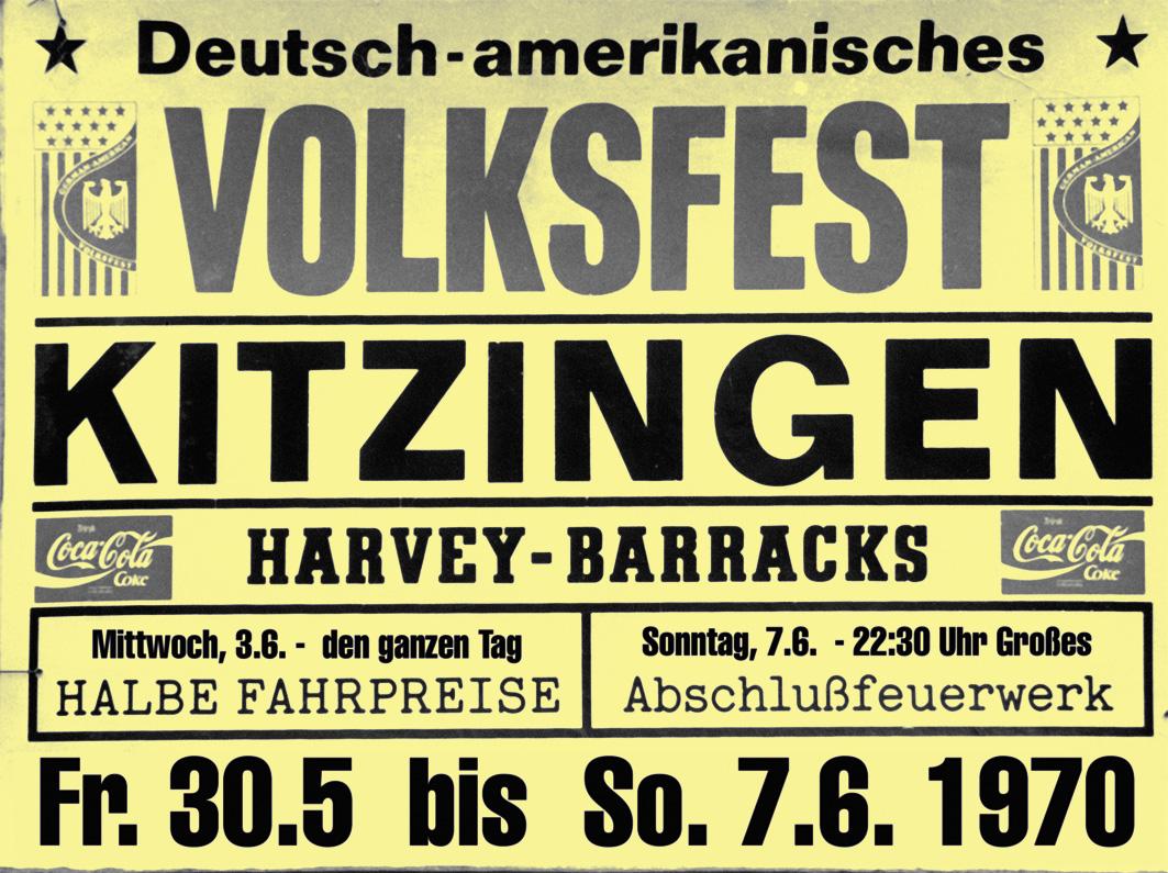Die deutsch-amerikanischen Volksfeste stärkten den Kontakt zwischen den US-Amerikanern und den Kitzingern. (Foto: Wild Times)