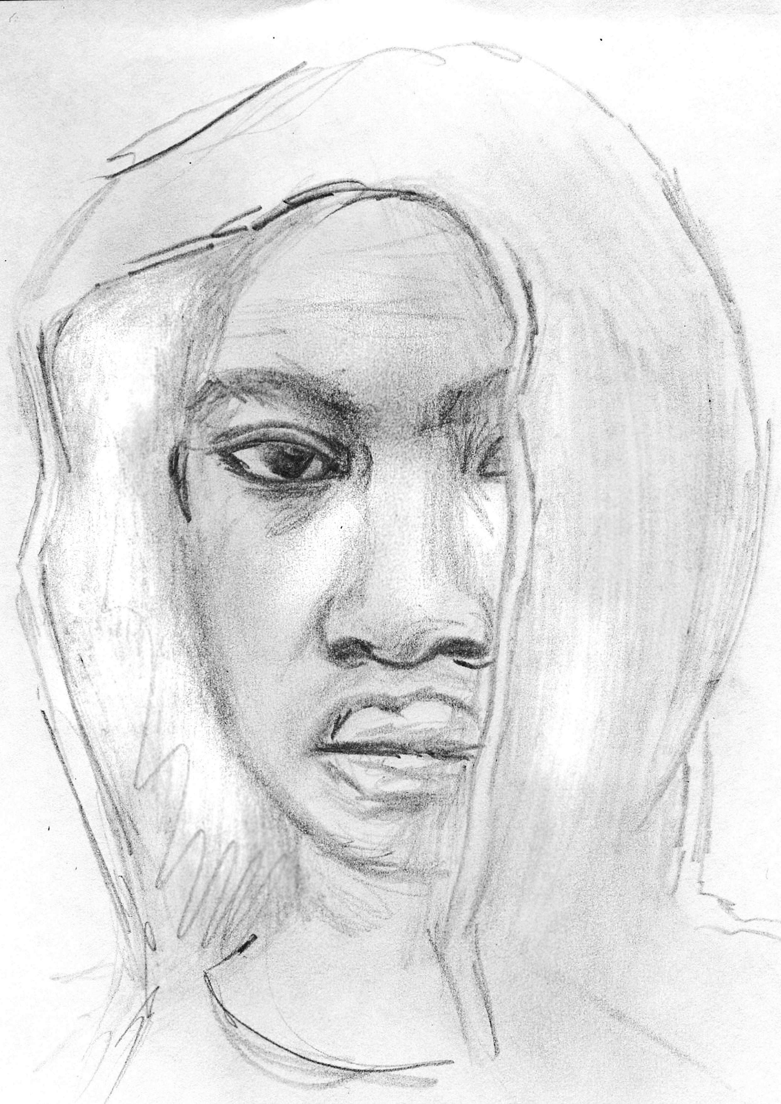 Aliou (Zeichnung: Amanda Müller)